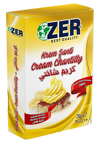 Zer Cream Chantilly Banana 150 Gr X 12 Box Zer Group